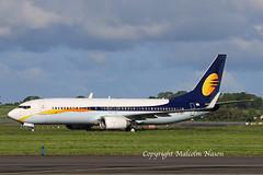 B737-8FH G-DRTI JET2 basic Jet Airways colours (shanairpic) Tags: jetairliner passengerjet b737 boeing737 shannon jetairways jet2 vtjgf mablu gdrti eidim
