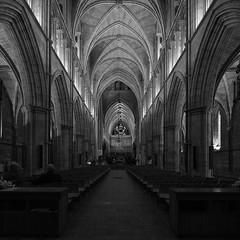 Southwark Cathedral - Black and White (Rowan Castle) Tags: southwark cathedral london uk monochrome blackandwhite unitedkingdom church interior architecture tiltshift rogeti tseframe