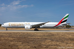 Emirates Boeing 777-31HER 'A6-ECV' LMML - 29.05.2019 (Chris_Camille) Tags: runway pilot pilotstories aviation avgeek canon canonphotography canonaviation withcanonyoucan red clouds airline maltese islands canon5d aviationgeek mla airport takeoff fly sky plane aircraft airplane maltairport spotting planespotting registrations spottinglog emirates boeing 77731her a6ecv lmml 29052019