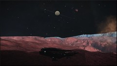Blua Eoq CW-K d9-8 8b (CMDR Snarkk) Tags: nebula ammonia planet geyser krait elite dangerous