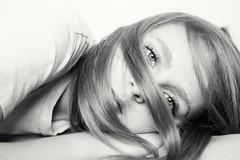 Rachel. (Caroleyene) Tags: portrait blackandwhite bw youngwoman teenager girl