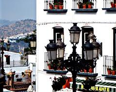Farolas y flores (portalealba On vacation) Tags: cómpeta axarquía málaga andalucía portalealba fuji españa spain 1001nightsthenew