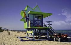 Lifeguard booth a beach icons. (Aglez the city guy ☺) Tags: afternoon colors blue beach beachscape seashore sobe seascape sea waterways walkingaround urban beachshore outdoors miamifl miamibeach people perspective