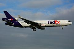 N588FE (FedEx) (Steelhead 2010) Tags: fedex federalexpress mcdonnelldouglas md11 md11f cargo freighter yyz nreg n588fe