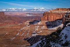 Shafer Canyon and the La Sals (Bill Bowman) Tags: shafercanyon canyonlandsnationalpark lasalmountains