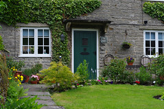 Tissington (Blue Sky Pix) Tags: village peakdistrict nationalpark tissington derbyshire cottage limestone attractive pentax garden niftyfifty primelens england ilovederbyshire