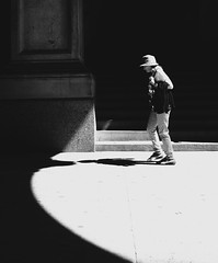 In the Light (Dalliance with Light (Andy Farmer)) Tags: shadow street cityhall bw monochrome philadelphia philly pennsylvania unitedstatesofamerica
