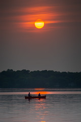 Hazy Sunset (Mark Polson) Tags: smoke haze sunset canoe lake water orange medicinelake mn plymouth