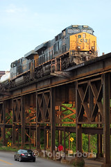 Bridge (TolgaEastCoast) Tags: csx train h771 huntington division acca yard richmond virginia co rivanna junction peninsula sub locomotive es44ah