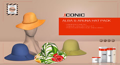 ICONIC_ALBA_ARUNA (Neveah Niu /The ICONIC Owner) Tags: sale secondlife saturday hats alba aruna