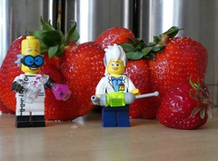 Naturally Grown (captain_joe) Tags: toy spielzeug 365toyproject lego series14 minifigure minifig erdbeere strawberry madscientist
