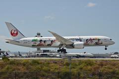 Japan Airlines Arashi Hawaii Jet Livery 787-900 Dreamliner (JA873J) LAX Approach 3 (hsckcwong) Tags: japanairlines arashihawaiijet 787900 7879 787 dreamliner ja873j klax lax