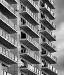 Balconies (150/365) (johnstewartnz) Tags: 150365 day150 onephotoaday oneaday onephotoaday2019 365project project365 blackandwhite bw monochrome niksilvereffectspro balconies building tauranga canon canonapsc apsc eos 100canon 7dmarkii 7d2 7d canon7dmarkii canoneos7dmkii canoneos7dmarkii 80200mm 80200