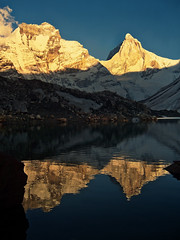 It's time to reflect.... (Lopamudra !) Tags: lopamudra lopamudrabarman landscape lopa trek trekking kedartal delight kedar glacier glacial lake loch water waterscape peak peace peaks thalaysagar thalaisagar crystalpeak bhrigupanth bhrigupant mountain mountains garhwal uttaranchal uttarakhand uttarkhand india himalaya himalayas highaltitude highland hiking highaltitudelake reflection reflexion mirror light lightandshade sunshine sunlight sunset sundown golden twilight dusk evening nightfall transition life philosophy nature shadow shade colour color colourful colours cold beauty beautiful picturesque