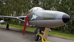 Hunter (Bernie Condon) Tags: hawker hunter raf royalairforce military warplane jet vintage preserved classic coldwar fighter bomber reconnaissance aircraft plane flying aviation bruntingthorpe uk coldwarjets planes jets taxi british