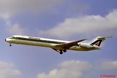 ALITALIA MD-82 I-DAVK (Adrian.Kissane) Tags: flight heathrow london outdoors sky jet aeroplane plane 49432 idavk lhr md82 alitalia aircraft
