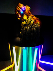 The Infinity Gauntlet (Steve Taylor (Photography)) Tags: avengers endgame powergauntlet glove theinfinitygauntlet digitalart graphic colourful contrast metal glow lines armor artsciencemuseum infinitywar marvel marvelcomics