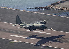 Royal Air Force Lockheed C-130J Super Hercules ZH888 departing RAF Gibraltar/LXGB (Mosh70) Tags: gibraltar rafgibraltar raf royalairforce lockheed c130j superhercules hercules zh888 rafbrizenorton 47sqn