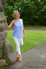 Meghan - Bancroft Tower (Peter Camyre) Tags: bancroft tower worcester ma mass massachusetts meghan peter camyre pictures photoshoot outdoor pretty girl young lady beautiful ukulele yoga fitness happy blonde blond hair blue eyes crown sash trees rain daylight time tuesday may 28 2019 photography flickr groups people friends pageant title holder miss missblackstonevalley