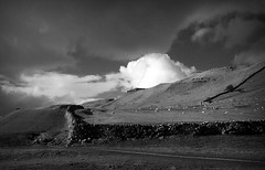 Yorkshire Dales (plot19) Tags: yorkshire dales england uk britain blackwhite blackandwhite plot19 photography love light landscape sony rx100 field hills clouds wall limestone sheep north northern northwest