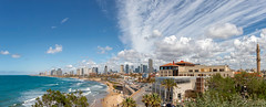 Tel-Aviv pano (busitskee) Tags: telaviv israel city architecture clouds sky panorama sea ocean coast beach travel country scyscrapers