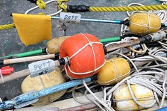 Buoys (just.Luc) Tags: boe boeien buoys bouées bojen orange oranje geel jaune gelb amarillo giallo yellow cinqueterre ligurië liguria ligurie ligurien italia italy italien italie italië manarola