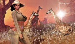 SAFARI (Rachel Swallows Inworld Elenamicheals Core) Tags: africa fashion giraffe haveunequal jacket jeans leather safari secondlife have unequal