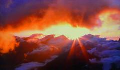 SWITZERLAND - Alps at sunset (Jacques Rollet (Little Available)) Tags: switzerland mountain montagne alpes alps sunset couchant nuage cloud ciel sky brume sun soleil groupenuagesetciel