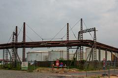 Caught between pipes (jefvandenhoute) Tags: belgium belgië antwerp antwerpen petrolzuid industrialarcheology industrial