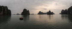 Ha Long Bay 10 (arsamie) Tags: ha long bay vietnam asia ocean sea water landscape panorama stitch sunrise hills mountains dragon horizon relief reflection serenity calm quiet relaxing wide angle
