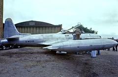 G-WGHB   Canadair T-33NAN Silver Star Mk.3 [T33-640] (Ormond Haydon Baillie) Duxford~G 28/06/1975 (raybarber2) Tags: flickr slide filed jettrainer jetaircraft egsu raybarber gwghb ukcivil planebase cnt33640 t33640 oldtimer