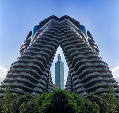 縫隙中的Taipei 101 (nans0410(busy)) Tags: taiwan taipei taipei101tower building cityscape reflection 台灣 台北 信義區 台北101 建築藝術 城市景觀 xinyidistrict