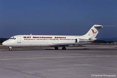 YU-AJJ / ZRH 08.1997 (propfreak) Tags: propfreak slidescan zrh lszh zurich kloten yuajj dc932 mat macedonianairtransport jat dc9 macedonianairlines