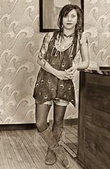 LADY ALWAYS MAKES A FASHION STATEMENT (panache2620) Tags: remixed make her own distinctive fashion statement