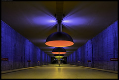 The Color Walk III (frankmartinroth) Tags: sony a7r3 21mm f28 carlzeiss ze loxia2821 architecture building wide urban geometry lines bavaria munich germany subway station color city indoor underground vanishingpoint
