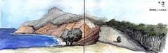 Maria Island, Bishop+Clerk (panda1.grafix) Tags: review mariaisland bishopandclerk tasmania pencilinkwash sketch