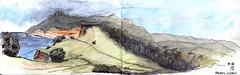 Maria Island Bishop+Clerk (panda1.grafix) Tags: review mariaisland bishopandclerk tasmania pencilinkwash seascape sketch