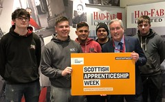At Had Fab in Macmerry to support Scottish Apprenticeship Week