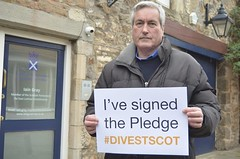 Pledging support for Divestment Scotland campaign
