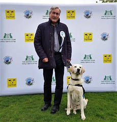 With guide dog puppy Giles for Holyrood Dog of the Year