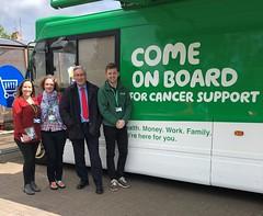 With Macmillan advice bus staff in Haddington