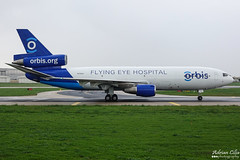 ORBIS Flying Eye Hospital --- McDonnell Douglas MD-10-30F --- N330AU (Drinu C) Tags: adrianciliaphotography sony dsc rx10iii rx10 mk3 mla lmml plane aircraft aviation orbisflyingeyehospital mcdonnelldouglas md1030f n330au md10 cargo freighter