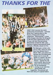 Newcastle United vs Manchester United - 1994 - Page 20 (The Sky Strikers) Tags: newcastle united manchester st james park fa carling premiership official programme one pound fifty