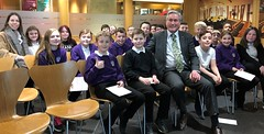 Welcoming first group of Sanderson's Wynd pupils to Holyrood