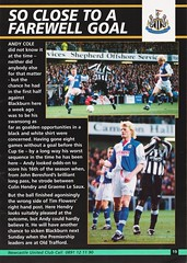 Newcastle United vs Manchester United - 1994 - Page 19 (The Sky Strikers) Tags: newcastle united manchester st james park fa carling premiership official programme one pound fifty