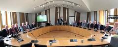 Welcoming Haddington Probus Club members to Holyrood