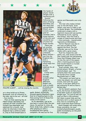 Newcastle United vs Manchester United - 1994 - Page 25 (The Sky Strikers) Tags: newcastle united manchester st james park fa carling premiership official programme one pound fifty