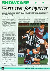 Newcastle United vs Manchester United - 1994 - Page 24 (The Sky Strikers) Tags: newcastle united manchester st james park fa carling premiership official programme one pound fifty