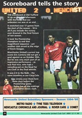 Newcastle United vs Manchester United - 1994 - Page 26 (The Sky Strikers) Tags: newcastle united manchester st james park fa carling premiership official programme one pound fifty