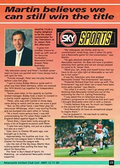 Newcastle United vs Manchester United - 1994 - Page 23 (The Sky Strikers) Tags: newcastle united manchester st james park fa carling premiership official programme one pound fifty